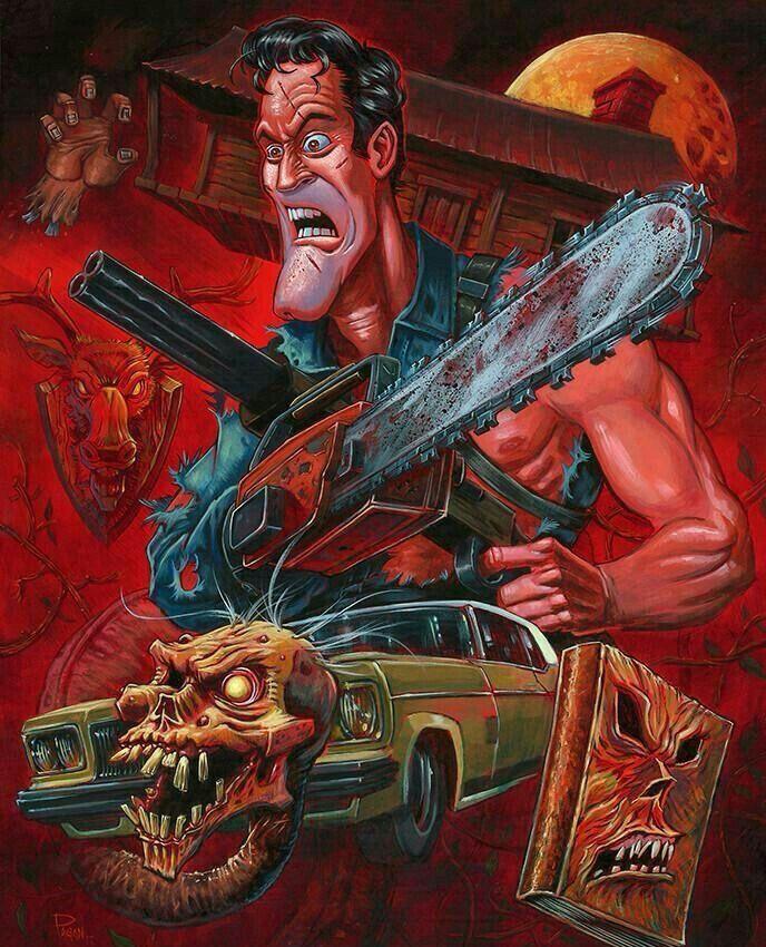 EVIL DEAD Horror lovers, Horror movie art, Horror art