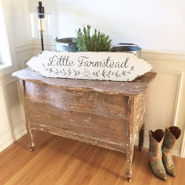 little farmstead: a custom vintage farmhouse style sign