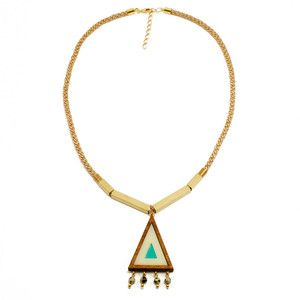 Beaded Triangle Necklace, $43, now featured on Fab.