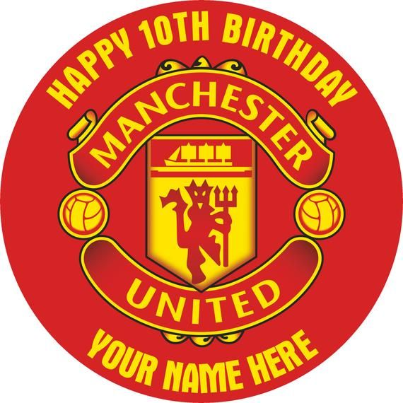 Manchester United Personalised Edible Cake Topper Cupcakes Decorate Your Own Cake Edible Cake Toppers Edible Cake