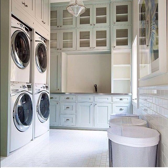 Best Laundry Room Location: Neutral Earth Tones Of The Possum Kingdom Lake House In