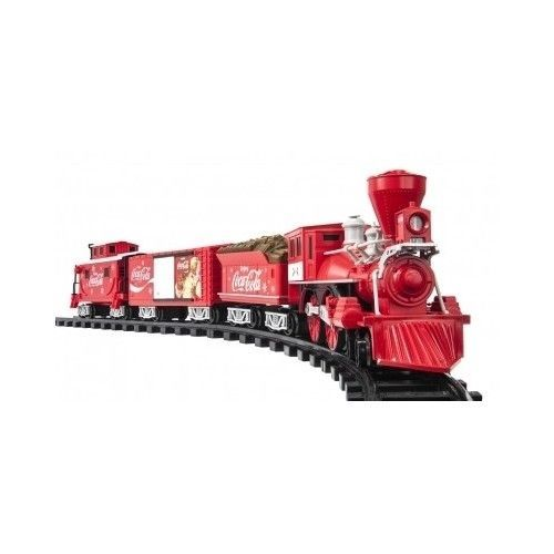 Christmas Toy Train Set Kids Battery Gift Coca Cola Holiday Sounds
