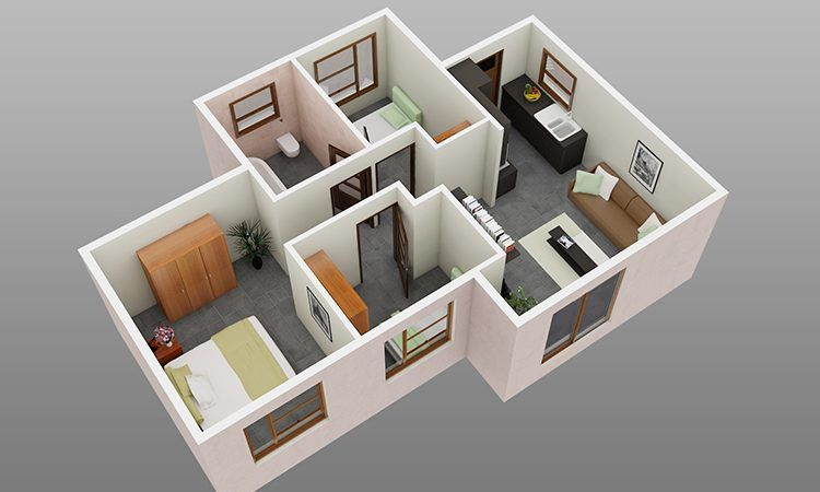 3 Bedroom 1 Bathroom Family Home Simple House Design Simple House Plans Small House Floor Plans