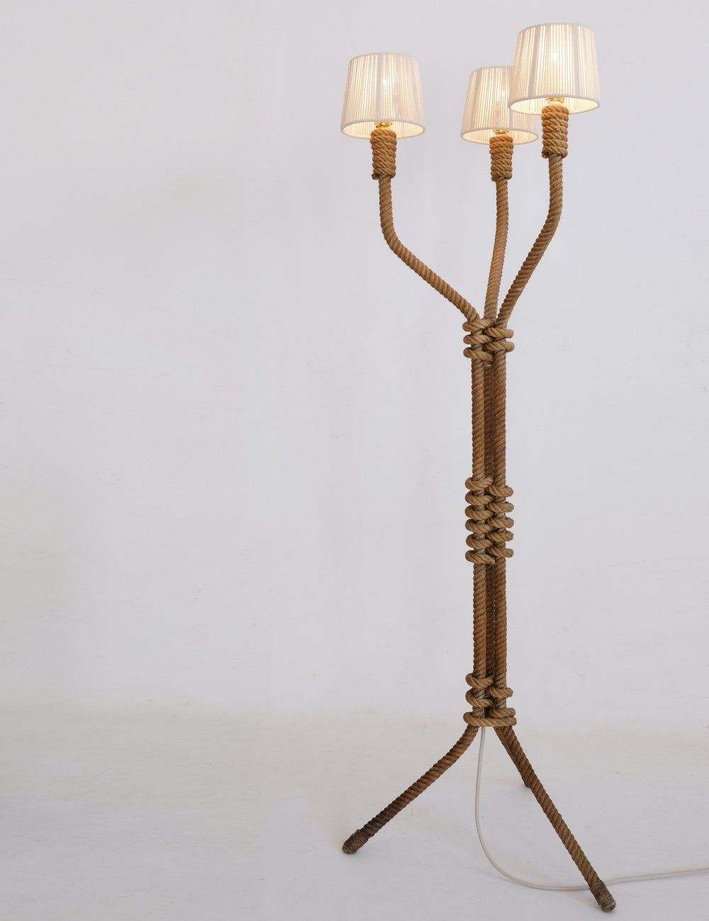 For Sale French Rope Floor Lamp From The 1940s 1950s Floor Lamp Lamp Floor Lamp Lighting