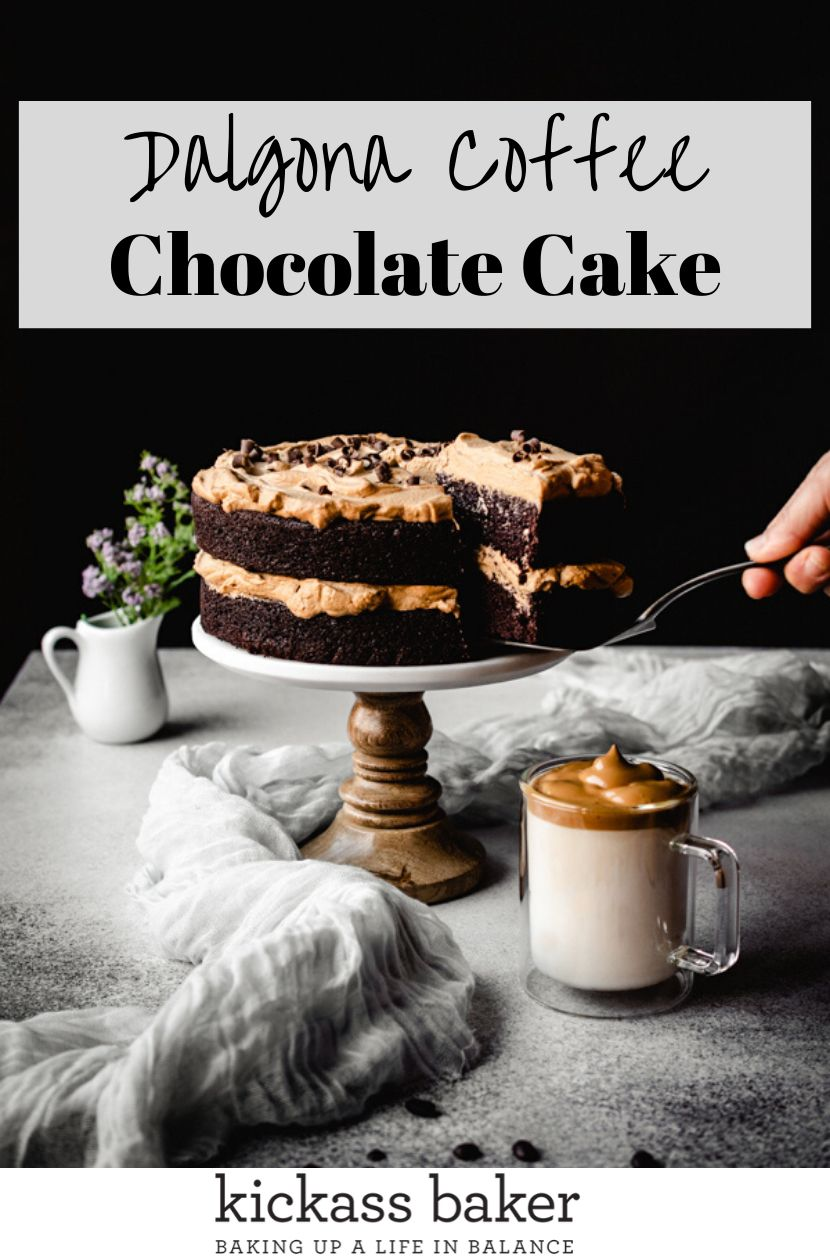 The Best Dalgona Coffee Chocolate Cake kickass baker