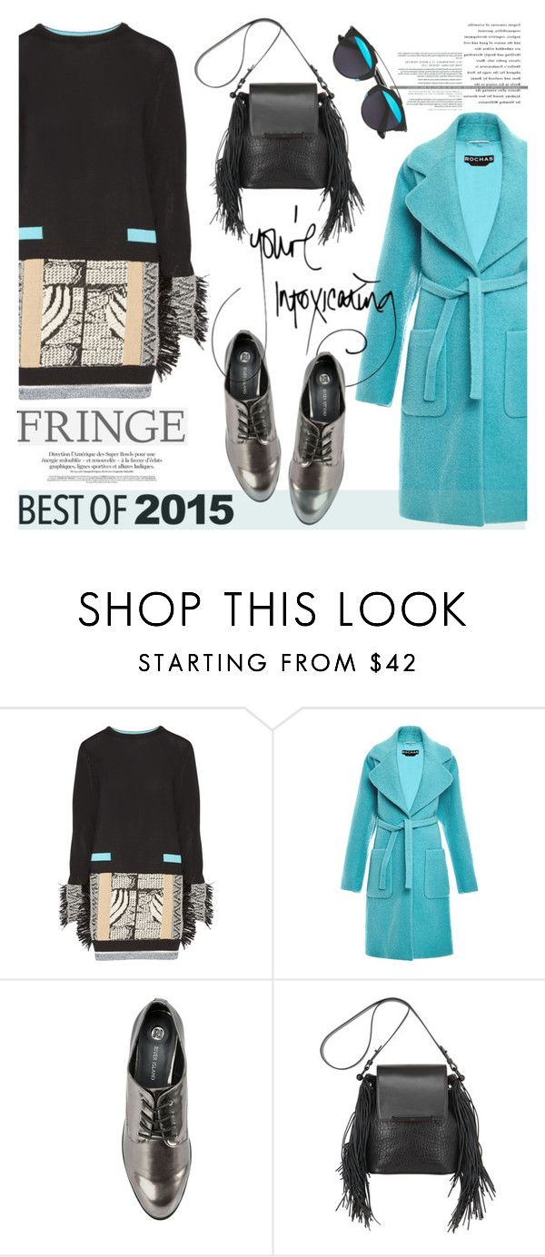 """""""The Hottest Trend of 2015"""" by helenevlacho ❤ liked on Polyvore featuring Toga, Rochas, River Island, Christian Louboutin, Christian Dior, fringe, contestentry and bestof2015"""