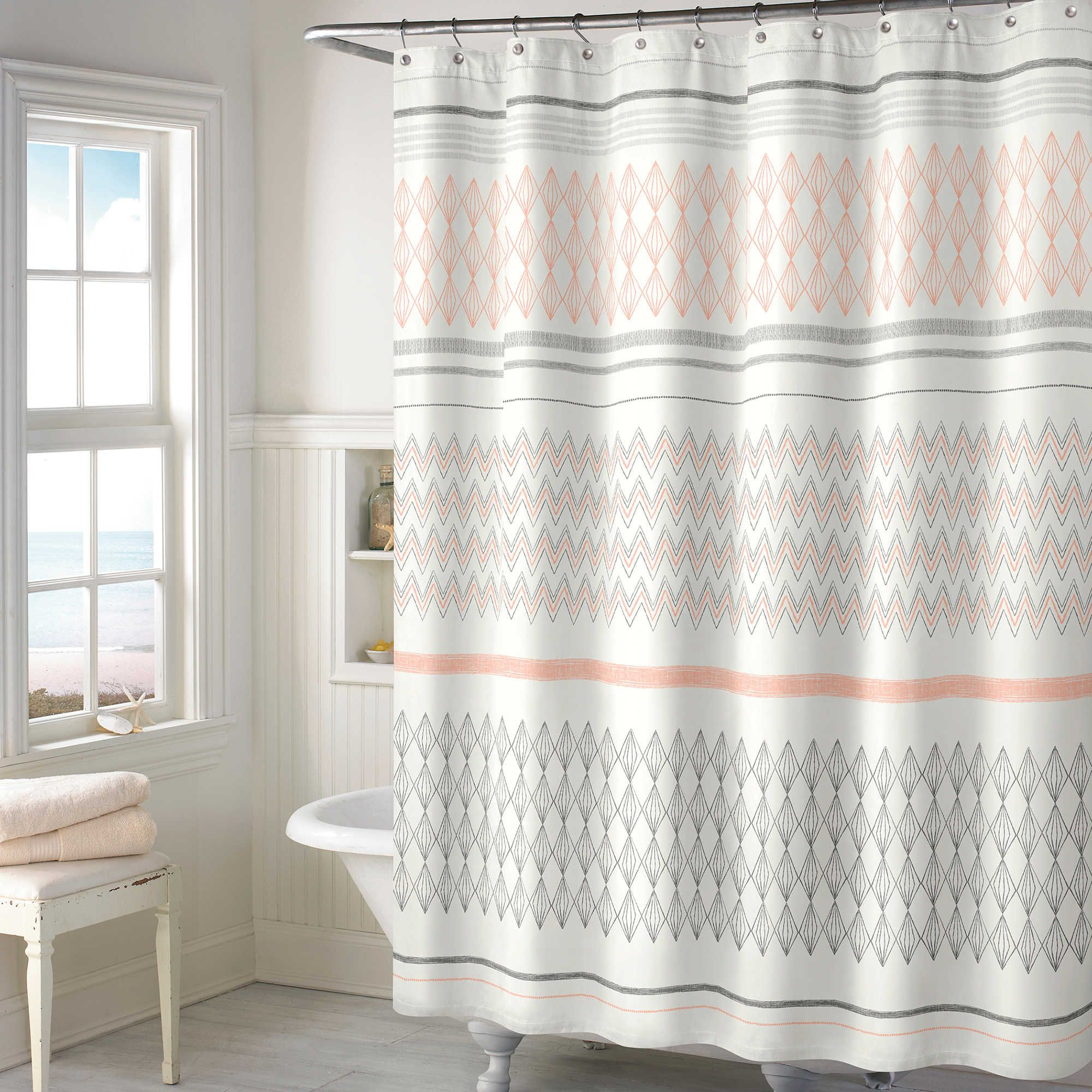 Norway Shower Curtain In Blush Sophisticated Bathroom Decor