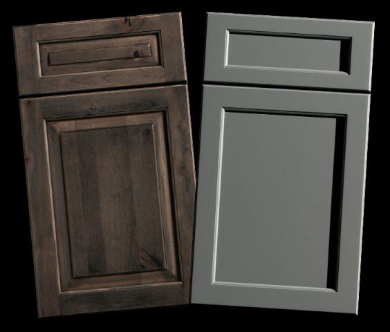 How To Mix Cabinet Door Styles Wood And Finishes Kendall Panel