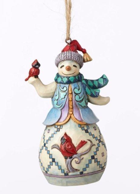 Jim Shore Heartwood Creek Snowman With Cardinal Christmas Ornament 4053840 New Christmas Tree Shop Snowman Christmas Ornaments Jim Shore Christmas
