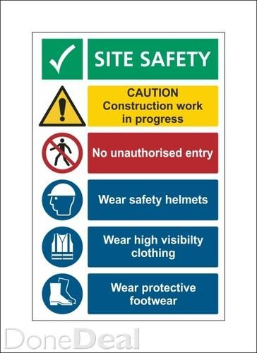 Construction Safety Sign Pack For Sale In Dublin On Donedeal Construction Signs Shop Signs Construction Safety