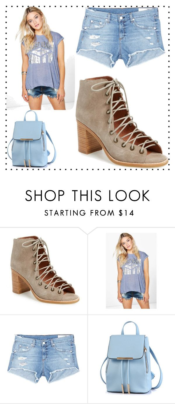 """Lace Up Shoes"" by leah-greek on Polyvore featuring Jeffrey Campbell, Boohoo and rag & bone/JEAN"
