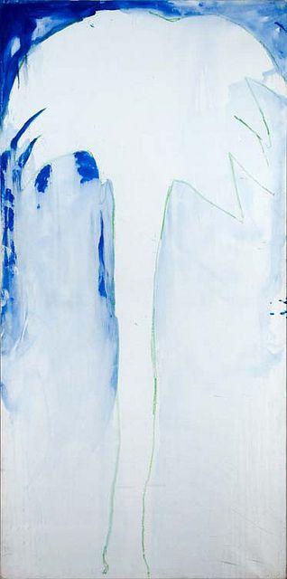 Mario Schifano - Palma (seconda metà anni '70) - olio su tela, 200x100 cm     Find the coolest #Art shows in     New York at https://www.artexperiencenyc.com