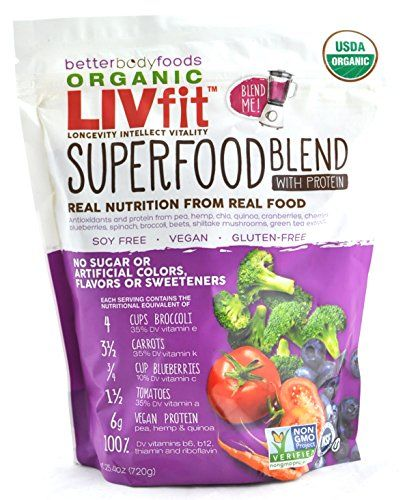 BetterBody Foods LIVfit Superfood Protein Blend 720 Grams... http://amzn.to/2iSSCrp