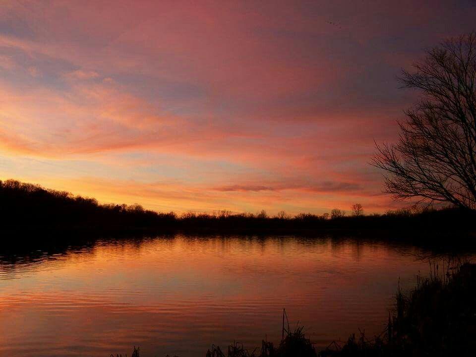 Sunset at Arrow Lake, Mt. Pleasant,  TN
