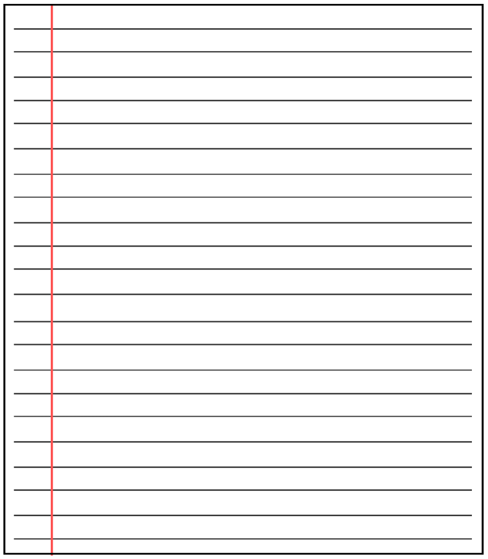 Free Printable Blank Lined Paper Template In Pdf Word How