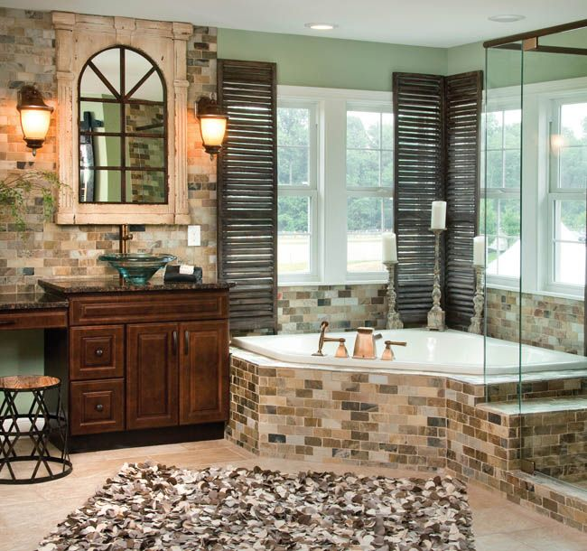 Texture, Which Adds Dimension To This Master Bath, Is A