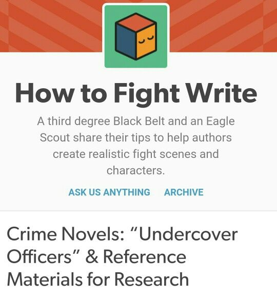http://howtofightwrite.tumblr.com/post/56365844473/crime-novels-undercover-officers-reference