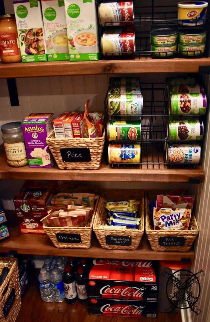 DIY Bauernhaus Pantry Regale - DIY & Crafts - Pantry #pantryshelving