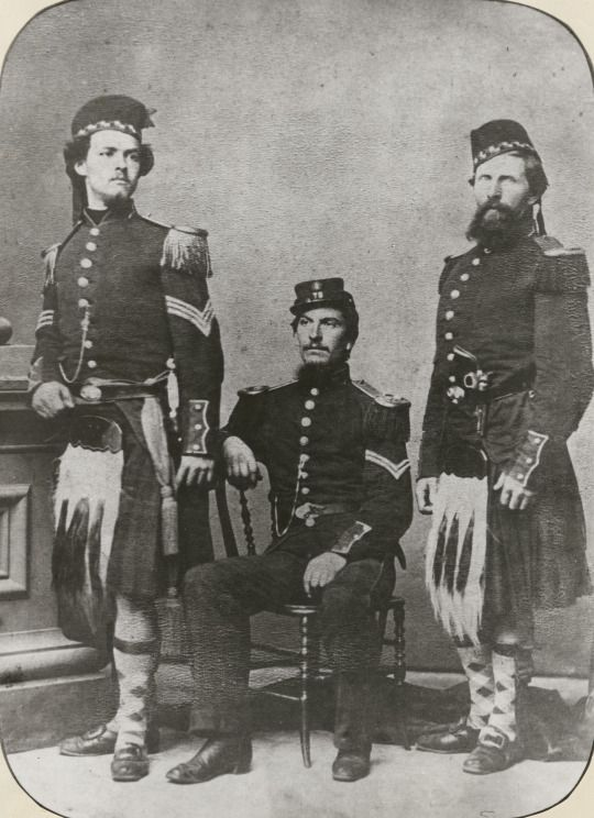 Portrait of three union soldiers of the 79th new york volunteer american civil war fandeluxe Choice Image