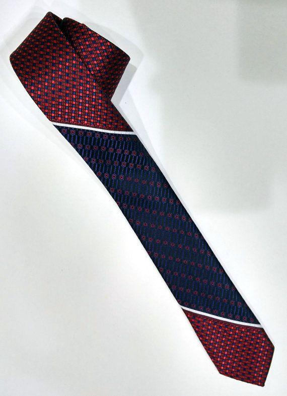 Slim Necktie, Red Men's Tie, Red Cravat, Red Tie - SL003 #handmadeatamazon #nazodesign
