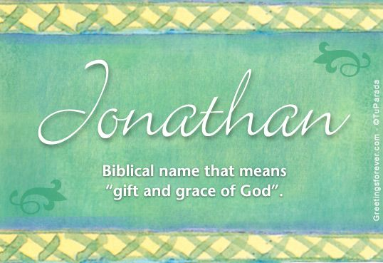I love the most wonderful man in the world. His name is Jonathan ...