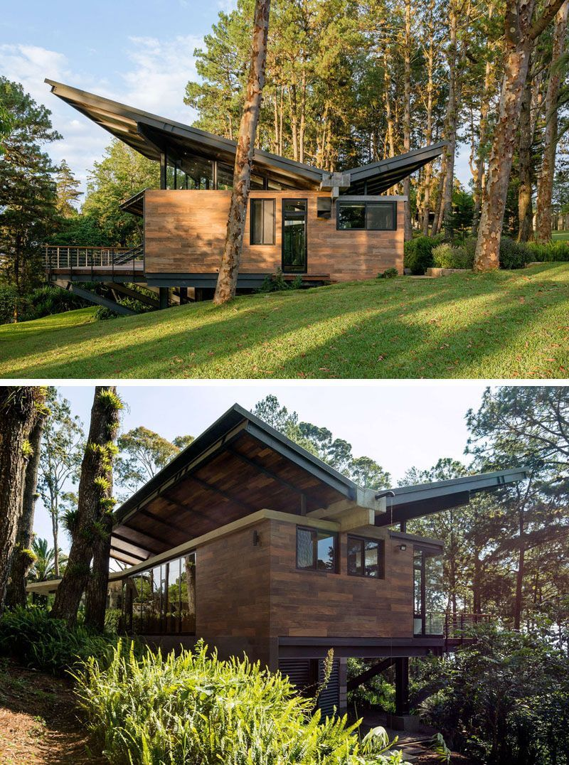 Gorgeous Houses With Butterfly Roofs And Trendy Designs