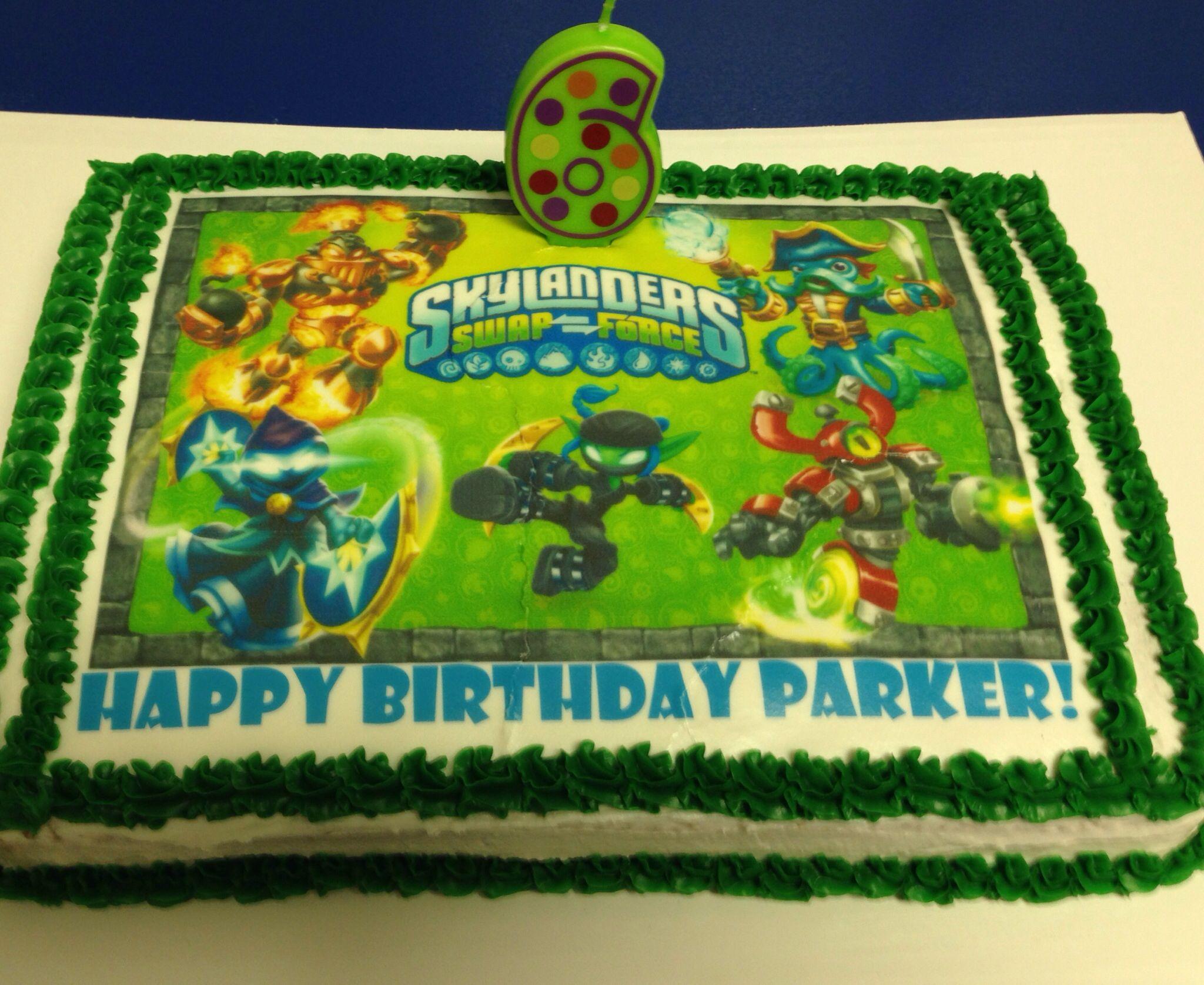 Skylanders Birthday Cake Special Occasion Cakes Cupcakes Etc