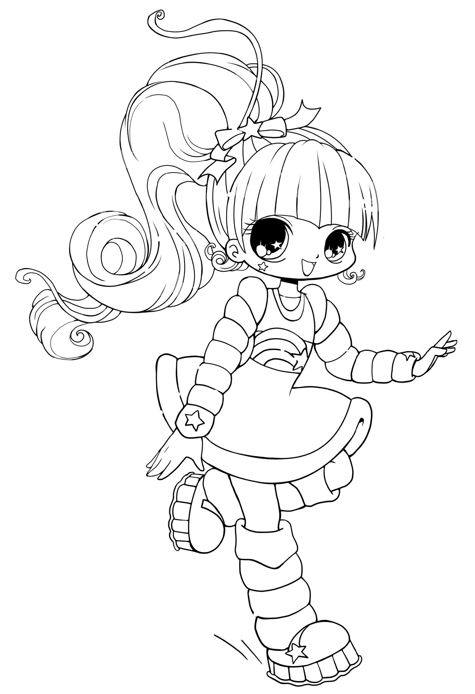 Cute Anime Coloring Pages With Cute Style Educative Printable Coloring Pages Coloring Books Coloring Pages For Kids [ 2400 x 1642 Pixel ]