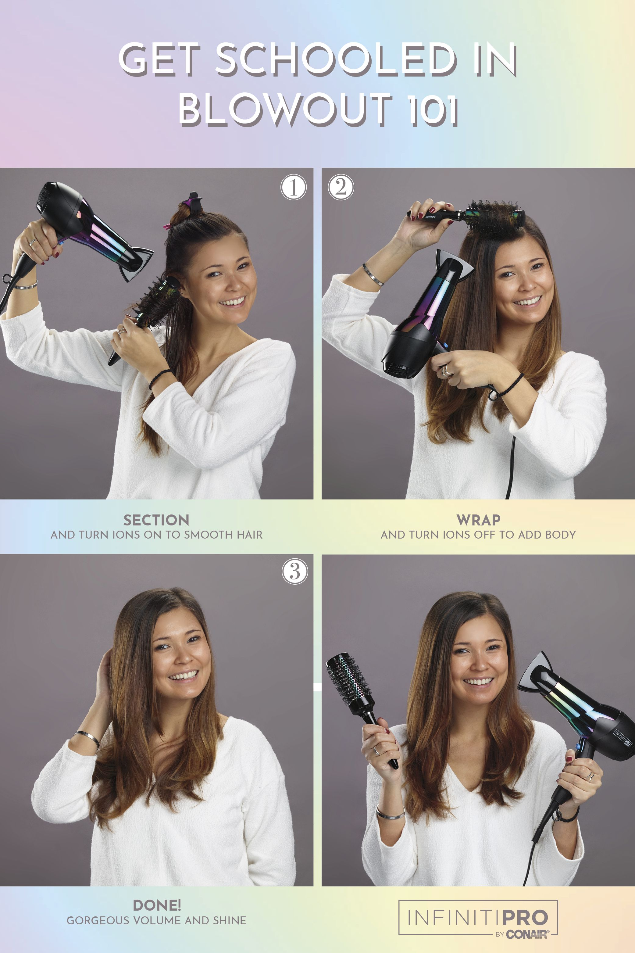 Infinitipro By Conair Ion Choice Rainbow Professional Hair Dryer Hair Hair Styles Girl Haircuts