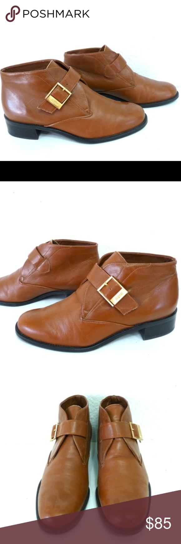 339842f564b51 NWT Etienne Aigner leather vintage brown booties 7 Boutique в 2018 г ...