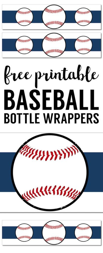 Free Printable Baseball Water Bottle Labels Free Printables from