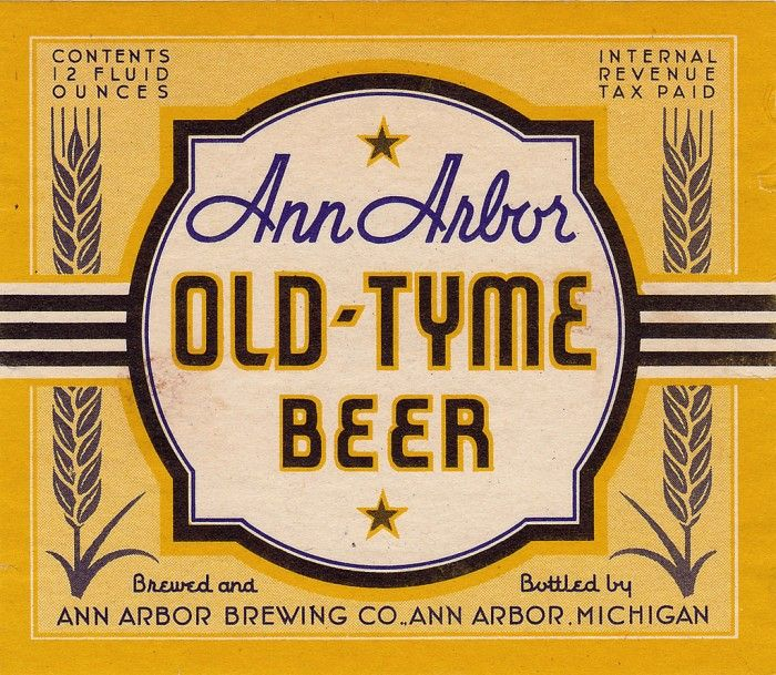 Vintage Beer Labels From Michigan  Vintage Graphics And Typography