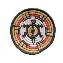 Turtle Earth Design Plaque, Coil Basket, Hopi Pueblo - $705.00