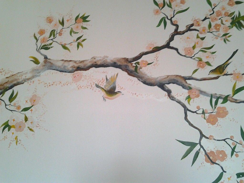 Рисунок ветка с цветами