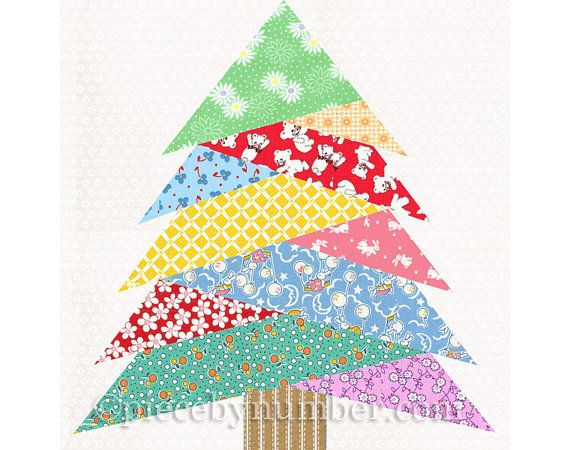 Pine Tree Quilt Block Pattern Paper Piecing Quilt Pattern Christmas Tree Quilt Paper Pieced Pattern Holiday Decor Rustic Home Decor Pdf Tree Quilt Block Tree Quilt Paper Piecing