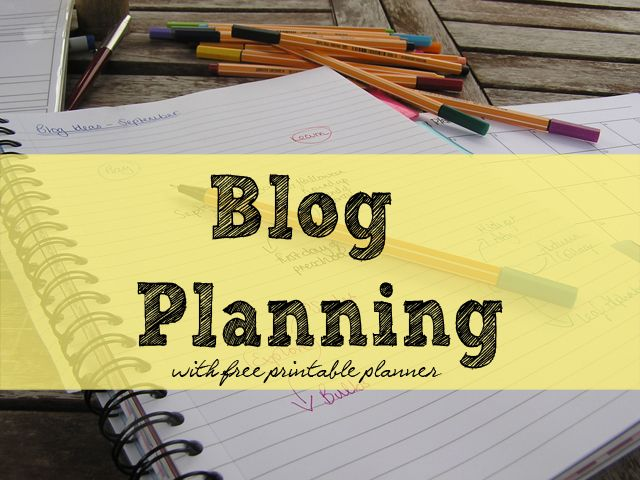 Blog Planning -- a printable blog calendar with post planning sheets