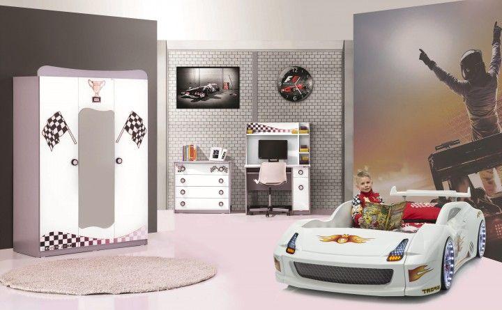 Kinderzimmer Fivex 4-tlg weiß glänzend