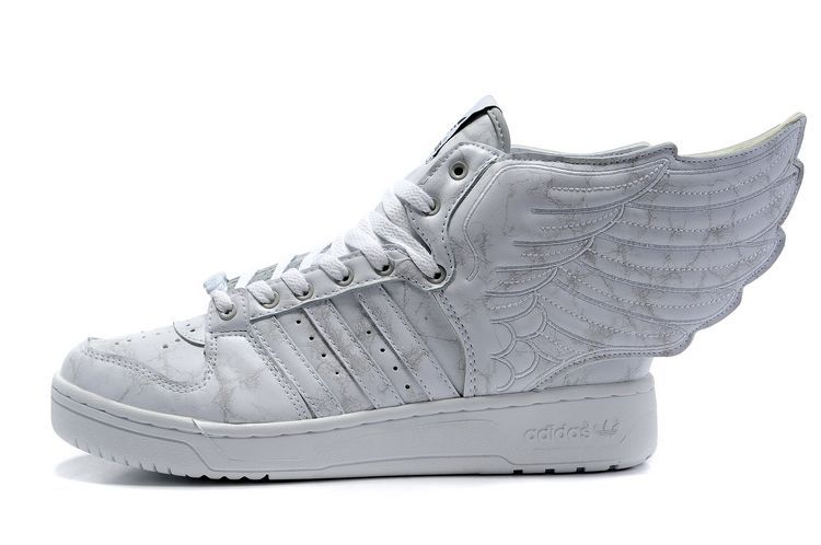 fdbe933e9fd81 Adidas Jeremy Scott Wings Shoes Grey White