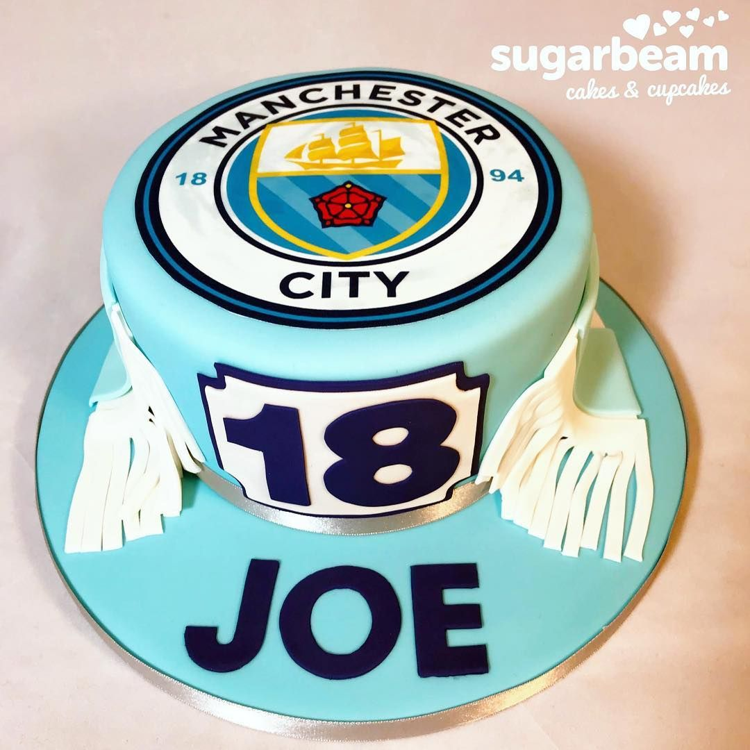 Marvelous 18Th Birthday Cake For A Man City Fan Mancity Sportcake Funny Birthday Cards Online Elaedamsfinfo