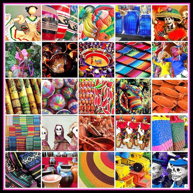 Mosaico De Artesanía Mexicana From Lucy Nietos Photostream Via