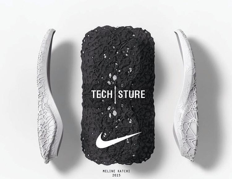 @Nike TECH-STURE by @melinekatchi  Utilizing a super unique combination of carefully mapped, Biochar (Carbon) and Phylon with multiple densities, footwear designer (and @palettestudioco co-founder) #MelineKatchi has created a super innovative (both functionally and aesthetically), sneaker concept.  Full project on ConceptKicks.com