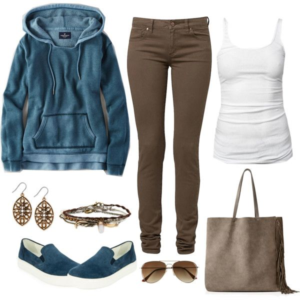 casual day by gallant81 on Polyvore featuring American Eagle Outfitters, James Perse, Prada, AllSaints, Lucky Brand, Aéropostale and H&M
