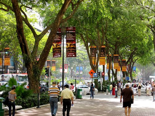 No place like it on Earth - Orchard Road in Singapore. Imagine this scene on Fifth Ave in Manhattan and you get a sense of being there.