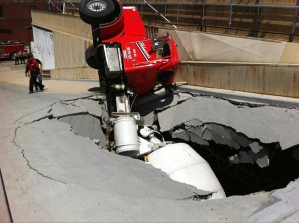 Ready Mix Concrete Truck Accident Ford Peterbilt