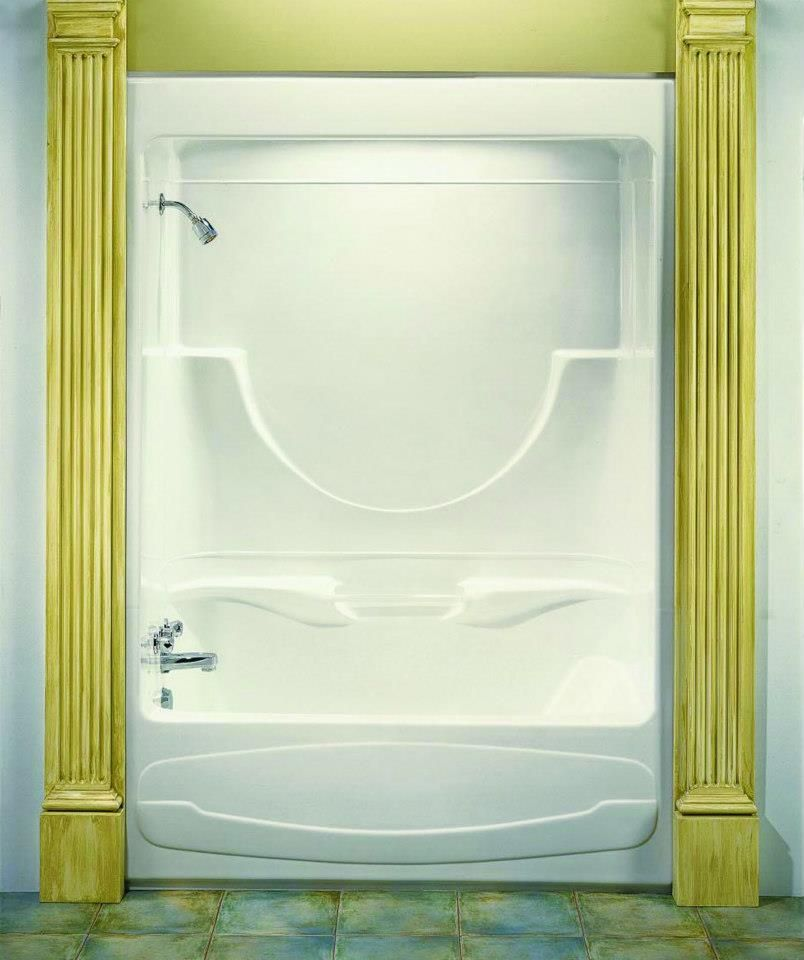 The Figaro One-Piece Tub & Shower Combo. Very nice, huh? Central can ...