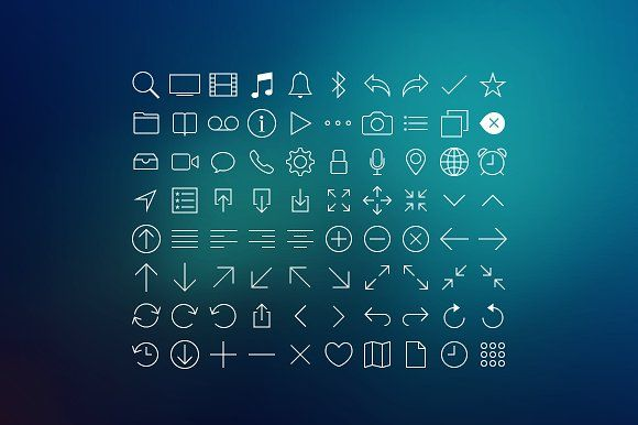 80 Line Icons Set by Sayid on @creativemarket