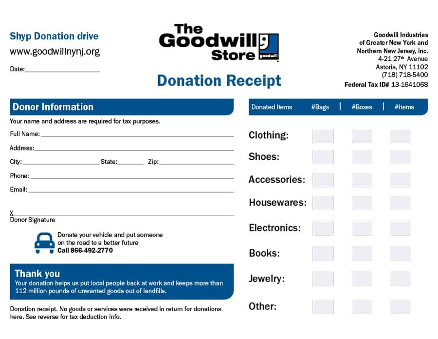 Donation Receipt Templates Donation Form Donation Letter Receipt Template