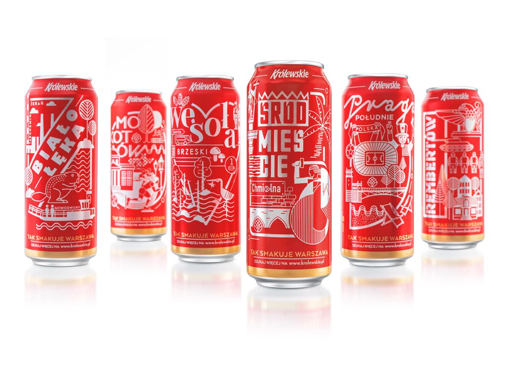 An Alluring Set Of Beer Cans Shows A Range Of The Greatest Spots In Warsaw Beer Packaging Beer Craft Brewing