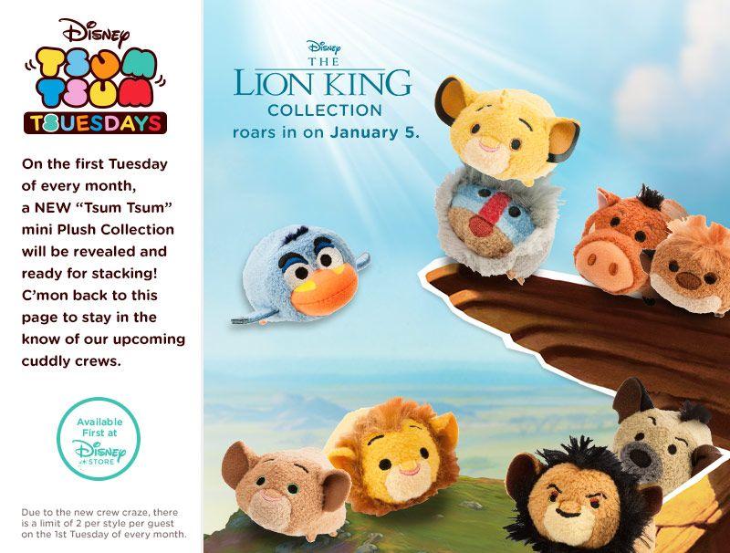 The Lion King Tsum Tsum Collection - Simba, Mufasa, Nala, Zazu, Rafiki, Scar, Hyena, Timon, and Pumbaa