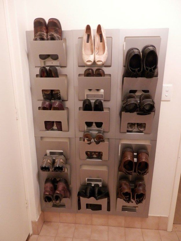 Another ingenious way to store shoes: | 37 Clever Ways To Organize Your Entire Life With Ikea